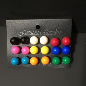 Jewelry - 50% OFF Gumball Multicolored Earrings(9 pairs)